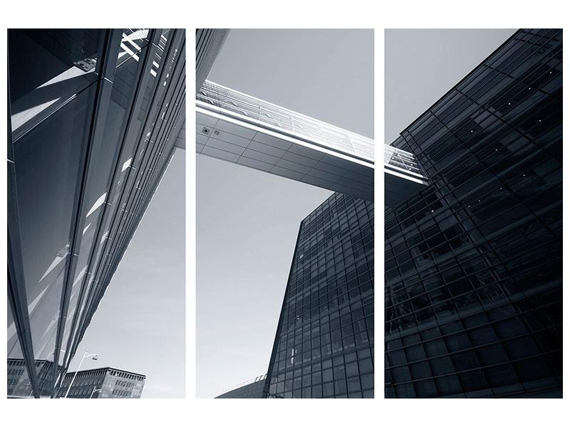 Leinwandbild 3-teilig Der schwarze Diamant Kopenhagens