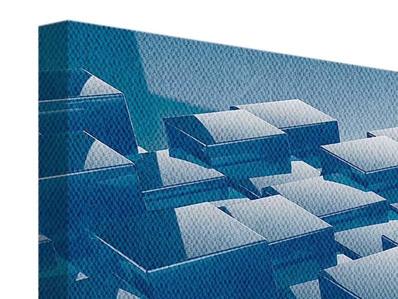 Leinwandbild 3-teilig 3D-Cubes