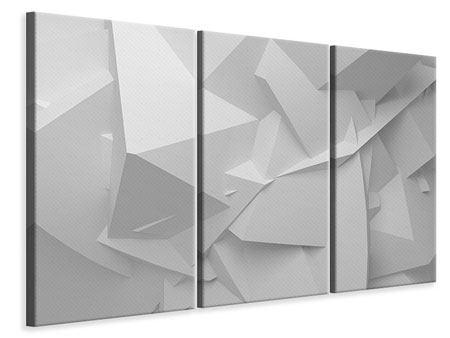 Leinwandbild 3-teilig 3D-Raster