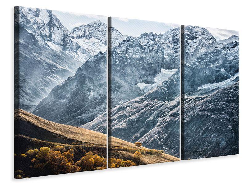 Leinwandbild 3-teilig Gigantische Berggipfel