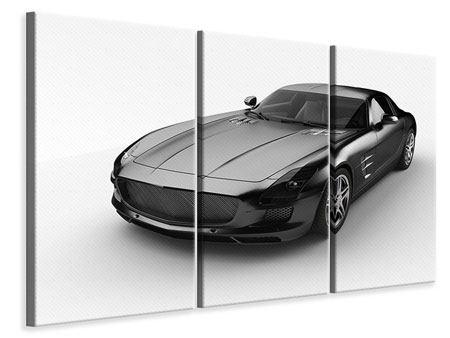 Leinwandbild 3-teilig 007 Auto