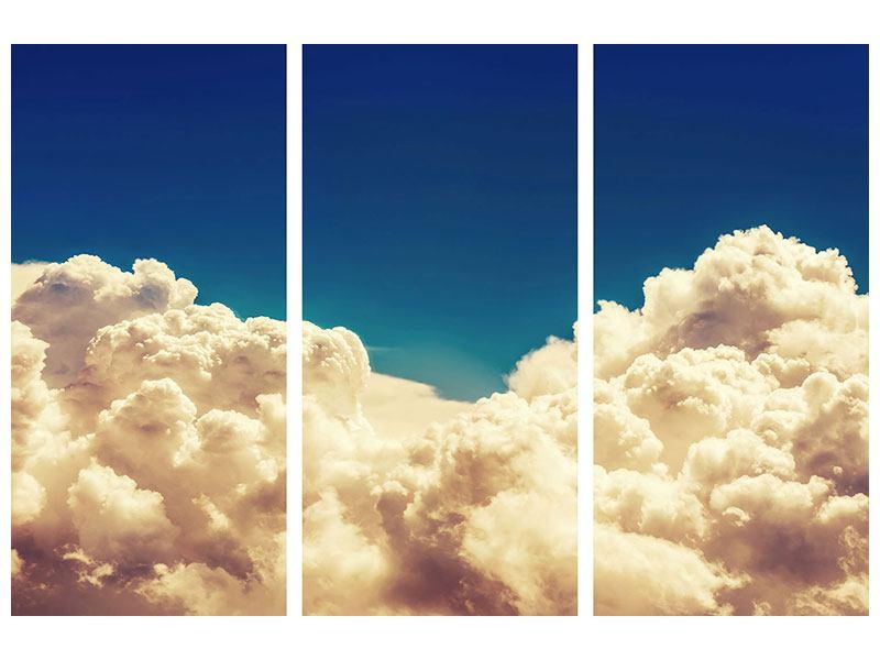 Leinwandbild 3-teilig Himmelswolken