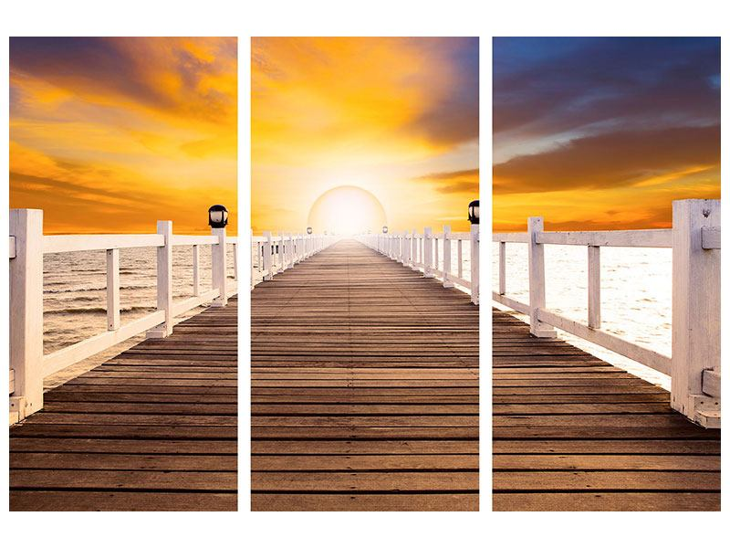 Leinwandbild 3-teilig Die Brücke Ins Glück
