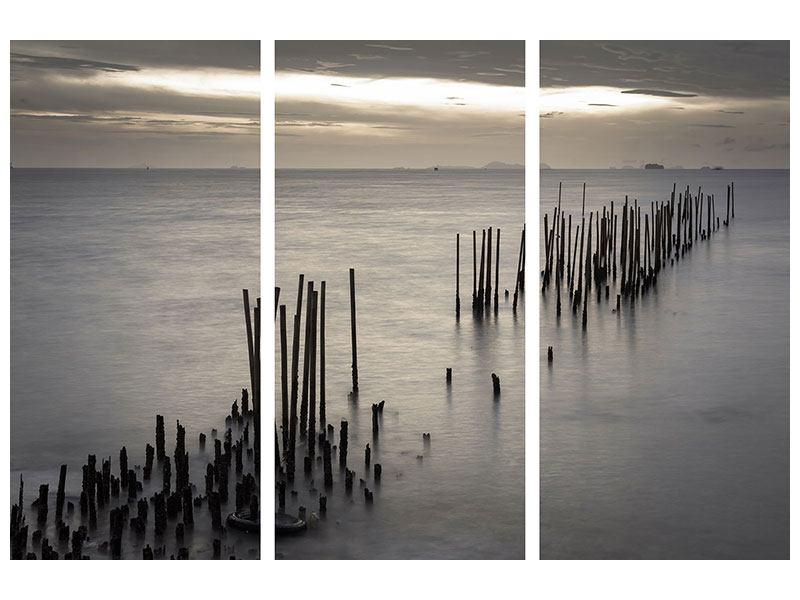 Leinwandbild 3-teilig Das Meer und die Träne