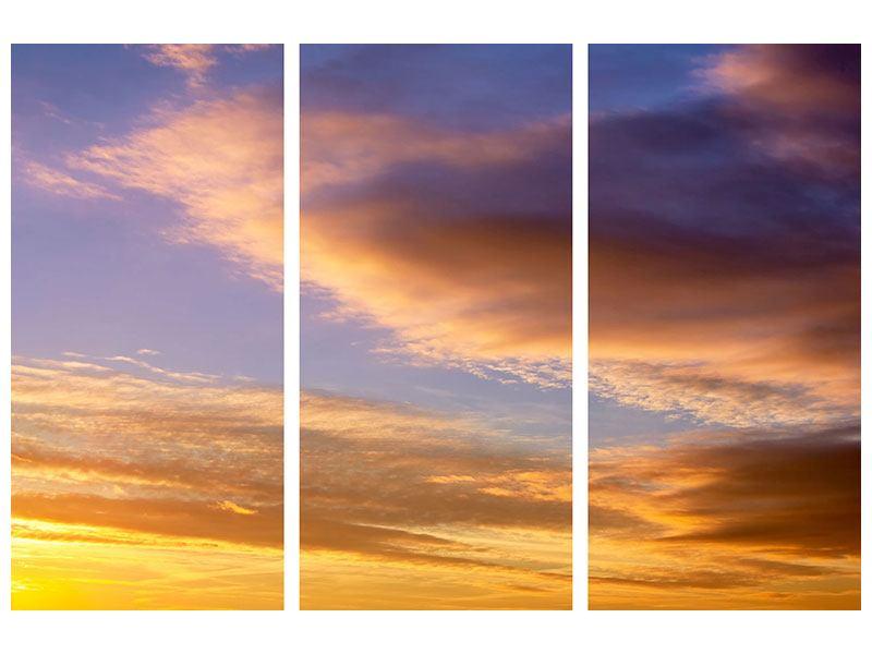 Leinwandbild 3-teilig Himmlisch