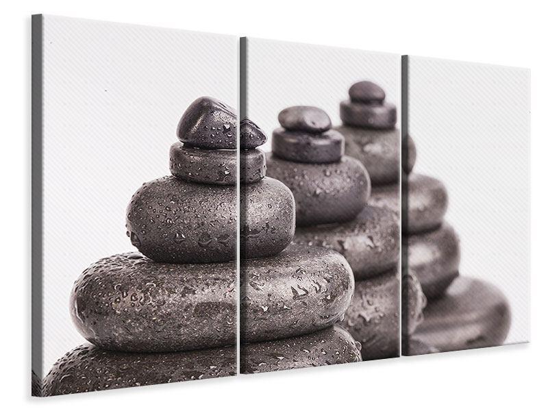 Leinwandbild 3-teilig Die Kraft der Steine