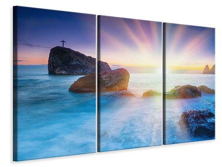 Leinwandbild 3-teilig Mystisches Meer
