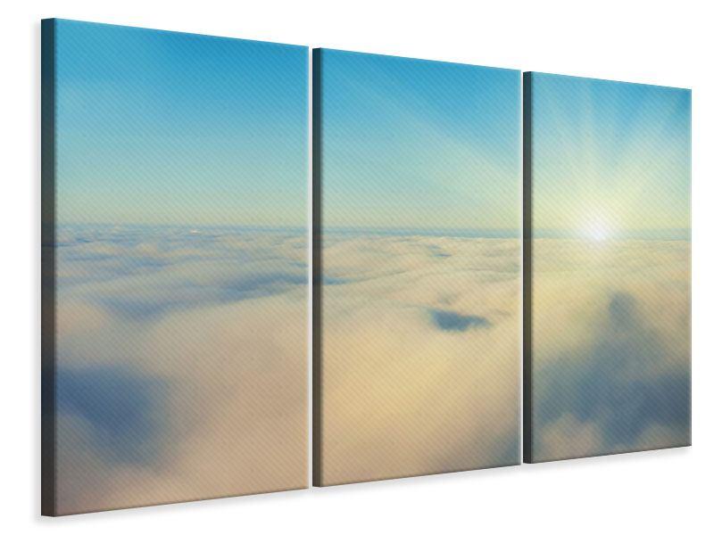 Leinwandbild 3-teilig Dämmerung über den Wolken