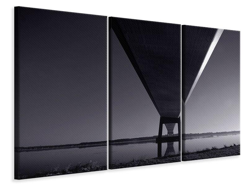 Leinwandbild 3-teilig Die Brücke über tiefes Wasser