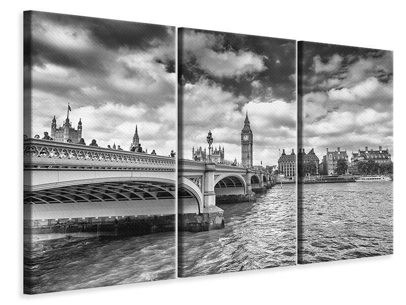 Leinwandbild 3-teilig Westminster Bridge