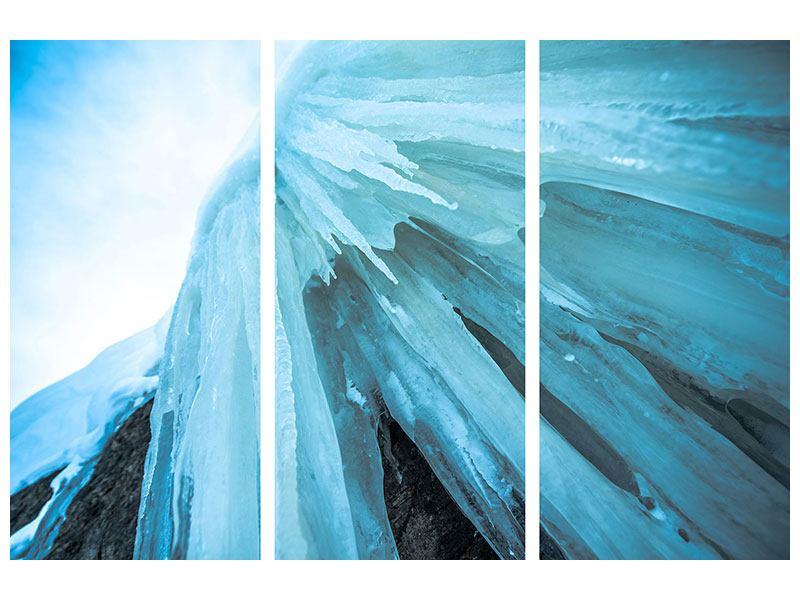 Leinwandbild 3-teilig Die Eiswand