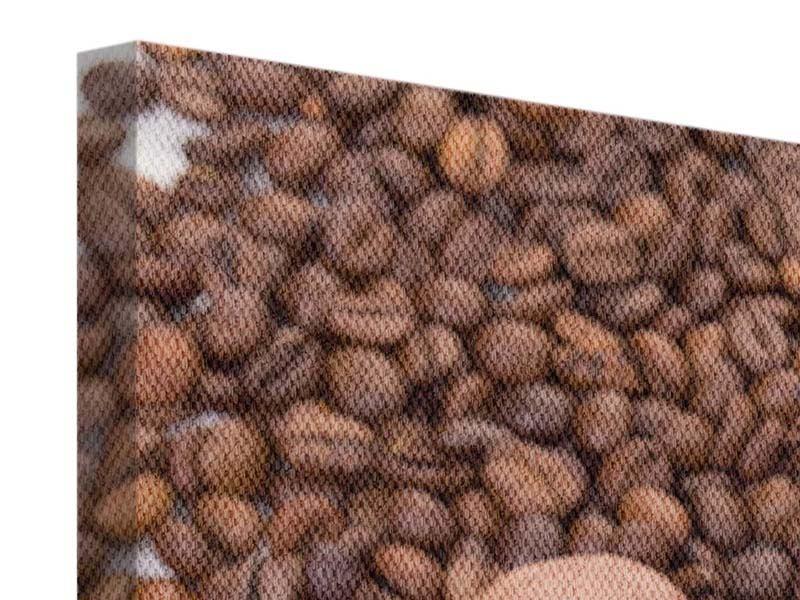 Leinwandbild 3-teilig Pausenkaffee
