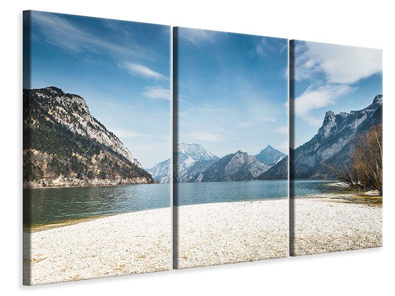 Leinwandbild 3-teilig Der idyllische Bergsee
