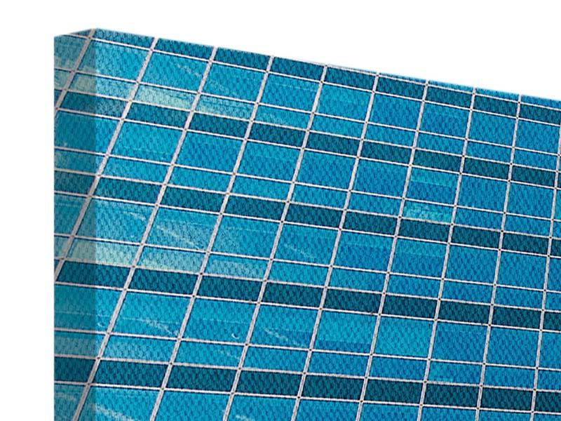 Leinwandbild 3-teilig Wolkenkratzer-Spiegel