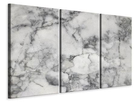 Leinwandbild 3-teilig Klassischer Marmor