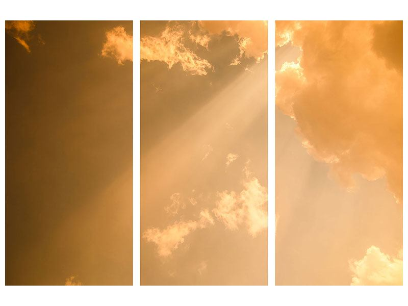 Leinwandbild 3-teilig Abendhimmel
