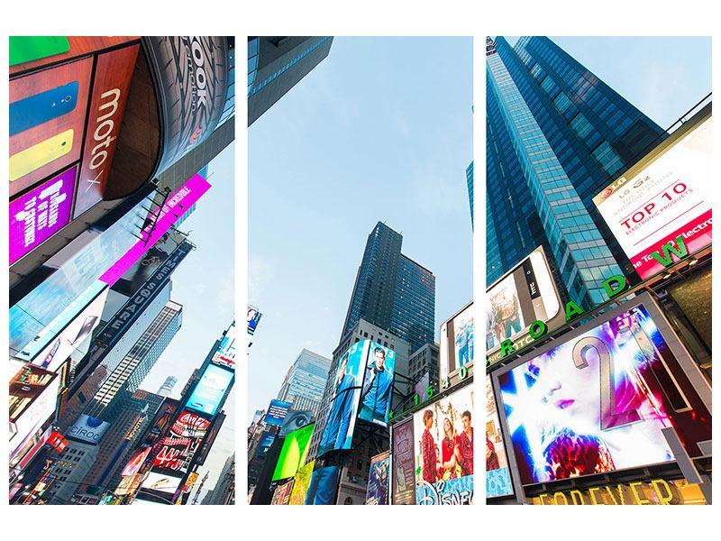 Leinwandbild 3-teilig Shopping in NYC