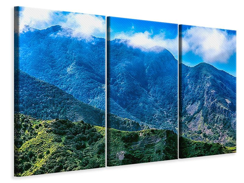 Leinwandbild 3-teilig Die Berglandschaft