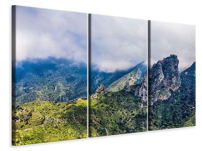 Leinwandbild 3-teilig Der stille Berg