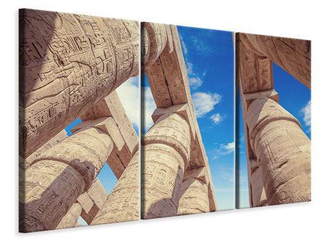 Leinwandbild 3-teilig Tempelsäulen