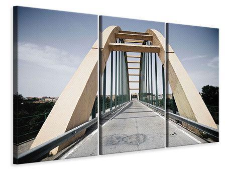 Leinwandbild 3-teilig Imposante Hängebrücke