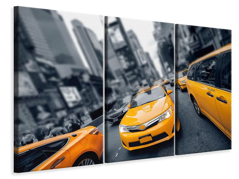 Leinwandbild 3-teilig Taxi in NYC