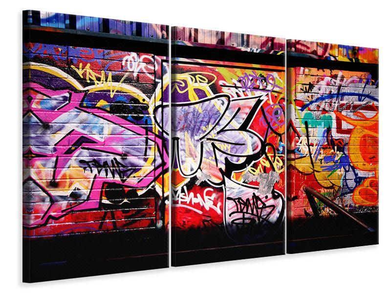 Leinwandbild 3-teilig Graffiti Kunst