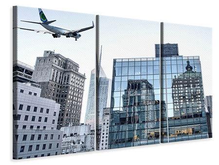 Leinwandbild 3-teilig Wolkenkratzer NYC