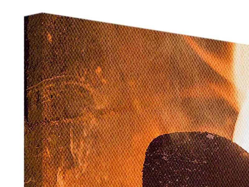 Leinwandbild 3-teilig Kaminfeuer