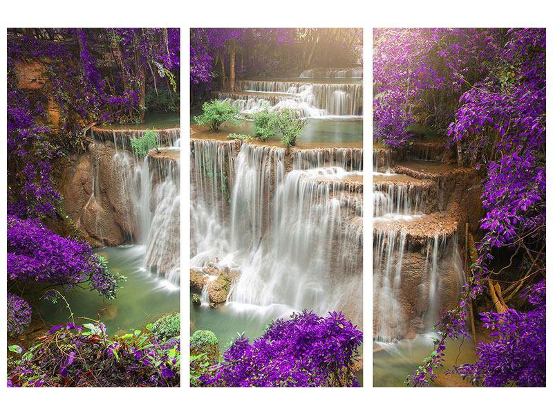 Leinwandbild 3-teilig Garten Eden