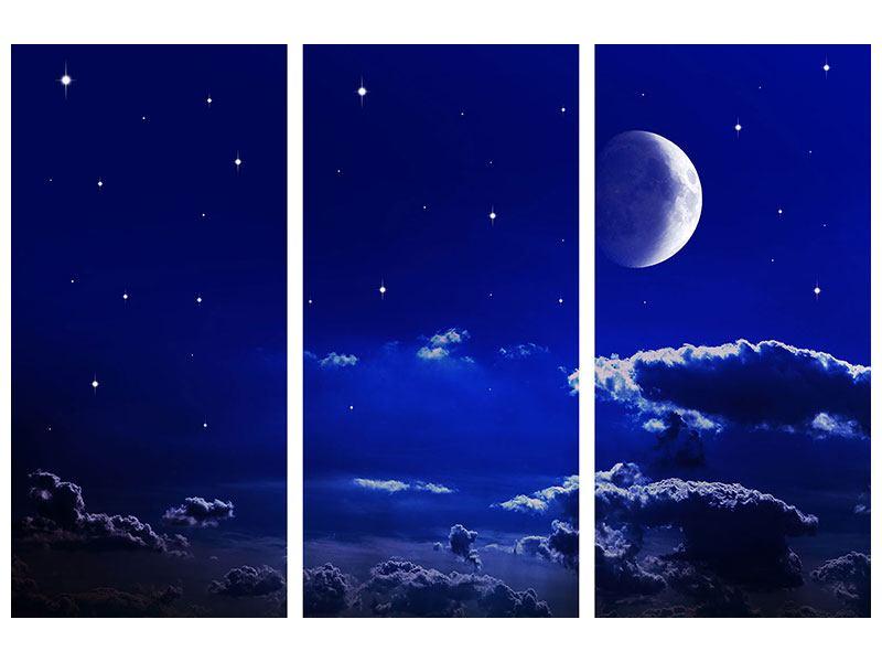 Leinwandbild 3-teilig Der Nachthimmel