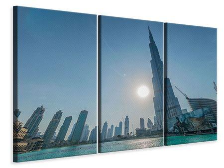 Leinwandbild 3-teilig Wolkenkratzer-Architektur Dubai