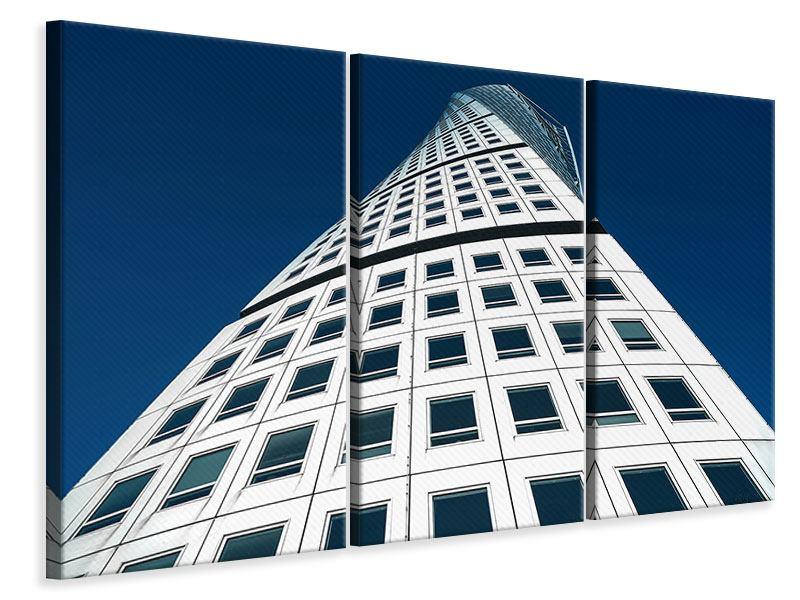 Leinwandbild 3-teilig Meisterstück Wolkenkratzer