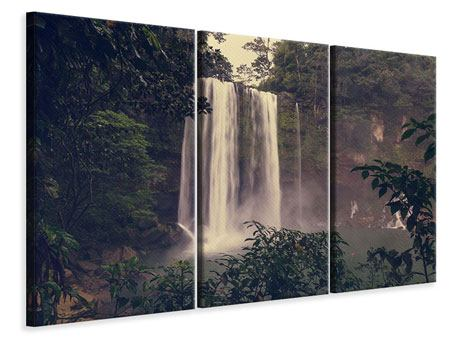 Leinwandbild 3-teilig Wasserfall in Mexiko
