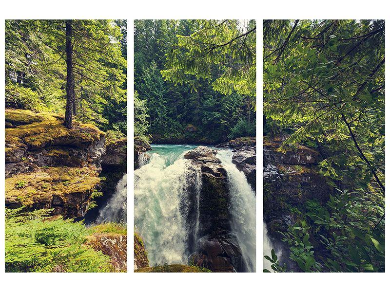 Leinwandbild 3-teilig Flussströmung
