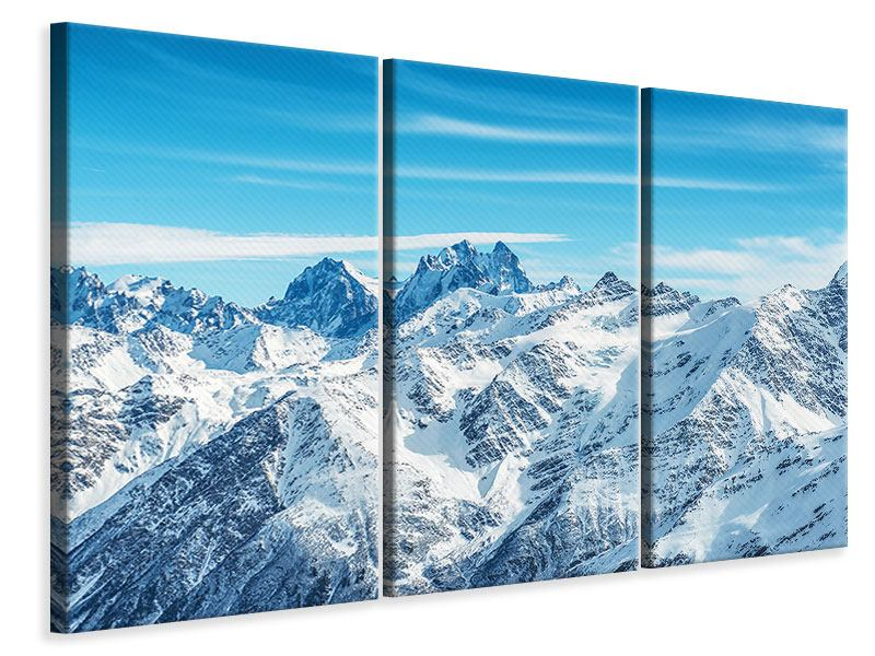 Leinwandbild 3-teilig Alpenpanorama