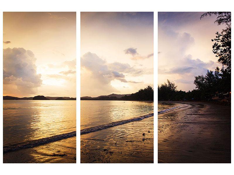 Leinwandbild 3-teilig Das Ufer