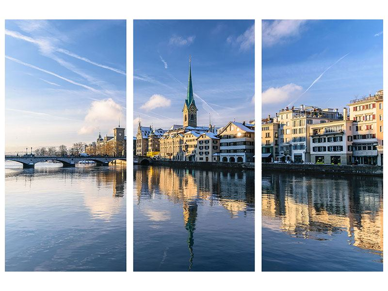 Leinwandbild 3-teilig Zürich