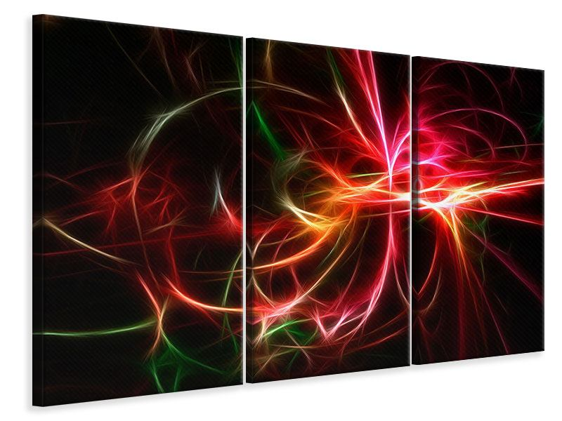 Leinwandbild 3-teilig Fraktales Lichtspektakel
