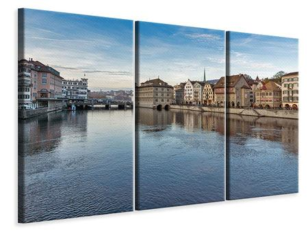 Leinwandbild 3-teilig Kosmopolitisches Zürich