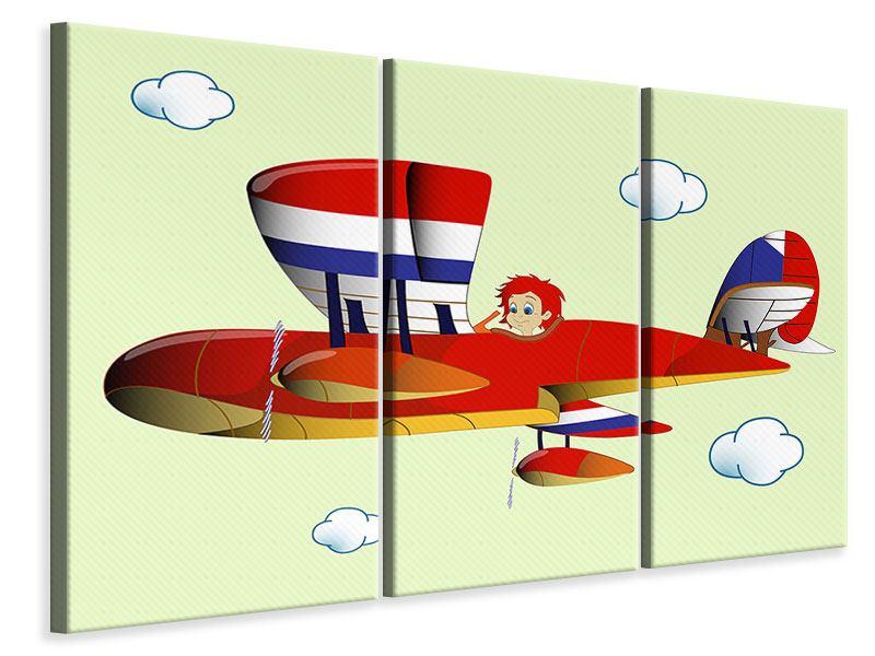 Leinwandbild 3-teilig Der fliegende Junge