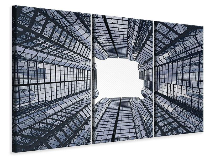 Leinwandbild 3-teilig Besondere Perspektive