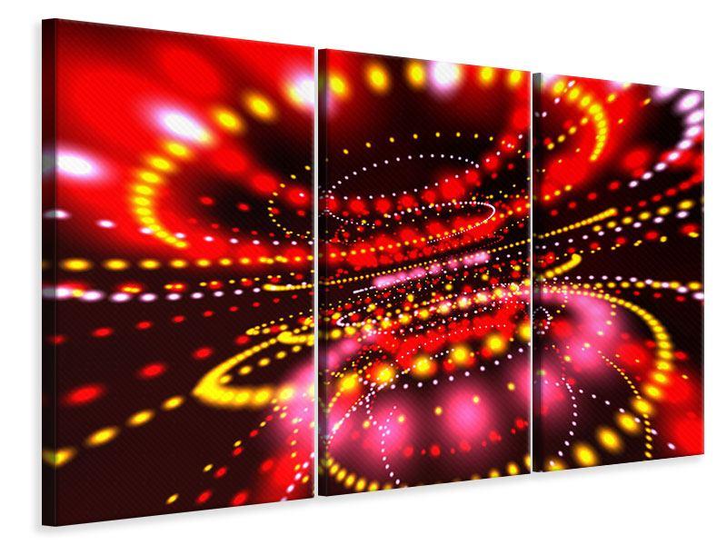 Leinwandbild 3-teilig Abstraktes Lichtspiel