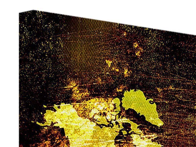 Leinwandbild 3-teilig Retro-Weltkarte
