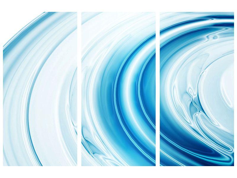 Leinwandbild 3-teilig Abstraktes Glas