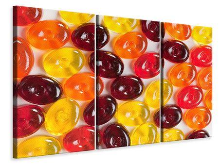 Leinwandbild 3-teilig Bonbons