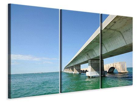 Leinwandbild 3-teilig Seven Mile Bridge