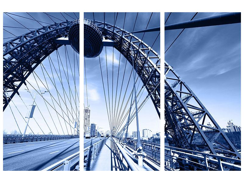 Leinwandbild 3-teilig Schiwopisny-Brücke