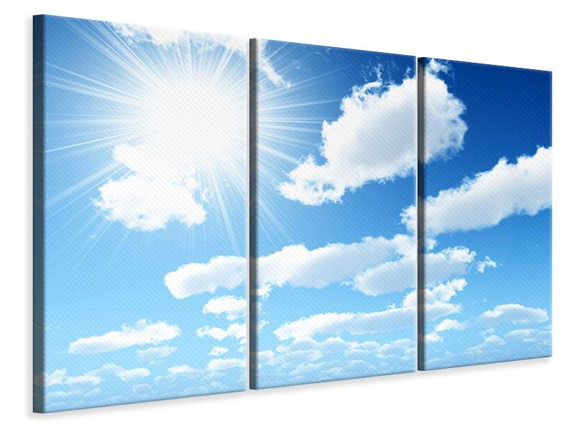 Leinwandbild 3-teilig Am Himmel
