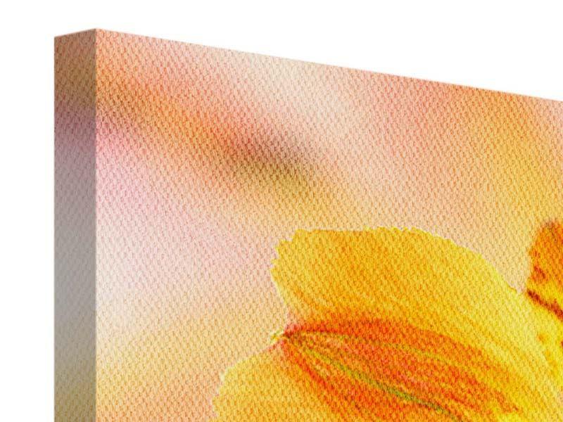 Leinwandbild 3-teilig Lilien-Frühstück